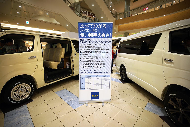 イオンモール車両展示イベント
